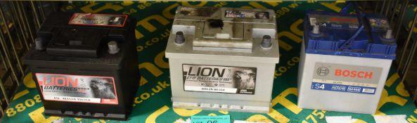 Bosch S4 019, Lion 60Ah EN 560 CCA & Lion 012 40Ah EN 330 CCA Batteries