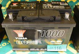 Yuasa YBX1096 12v 70Ah 640A Battery