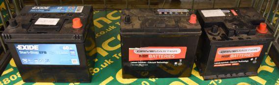 Drivemaster 077 45Ah EN 400 CCA, Drivemaster 156 45Ah EN 330 CCA & Exide EL604 Start-Stop Batteries