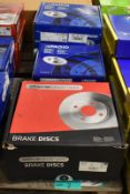 4x Pagid & 1x Drivemaster Brake Disc Sets - please see pictures for examples of make and models