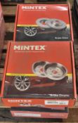 3x Mintex & 1x Brembo Brake Discs and 1x Mintex Brake Drum - please see pictures for examples