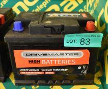 Drivemaster 065 52Ah EN 460 CCA Battery