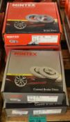 5x Mintex Brake Disc Sets (2x Coated) - please see pictures for examples of make and model
