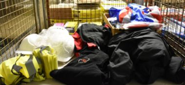 Hard Hats, Disposable Latex Gloves, Andrew Page branded coat, polo t-shirts, fleece and more