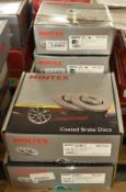 6x Mintex Coated Brake Disc Sets - please see pictures for examples of make and model numbers