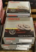 5x Mintex Brake Disc Sets (4x Coated) - please see pictures for examples of make and model
