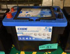 Exide EP450 Marine & Leisure Battery