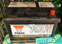 Yuasa YBX1075 12v 54Ah 470A Battery