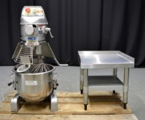 Metcalfe SP-200-B Heavy Duty Planetary Mixer with Stand, single phase electric