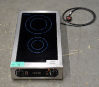 Lincat IH21 Twin Induction Hob, single phase electric