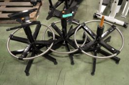 3x Chair bases