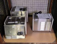 3x Crathco D25-4 Beverage Dispenser Bases - 115v