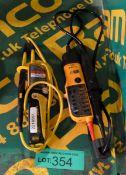 Beha Unitest 2000a Voltage Tester, Fluke T110 Voltage Tester