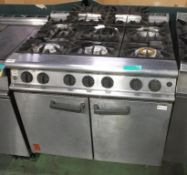 Falcon G3101 6 Burner Double Door Gas Oven - L900 x W800 x H950mm
