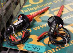 2x Tes-Tec HVP-40 40KV Voltmeters