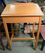 Wooden Writing Bureau - H1170 x W770 x D570mm