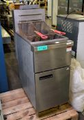 Stainless Steel Double Gas Fryer - L800 x W400 x H1200mm