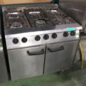 Falcon G3101 6 Burner Double Door Oven Gas - L900 x W800 x H950mm