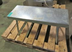 Small Steel Collapsable Bench - L760 x W430 x H480mm