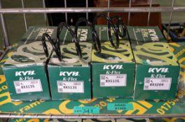 3x KYB K-Flex RX5135 coil springs, KYB K-Flex RX5209 coil spring
