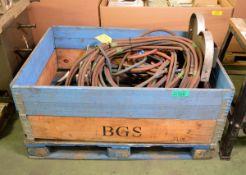 Welders dual bottle trolley with welding hoses & regulators