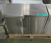 Stainless Steel Wall Mounted Cabinet - L850 x W300 x H700mm