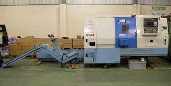 KIA Super Kiaturn 15LM CNC Lathe, Conveyor, Accessories