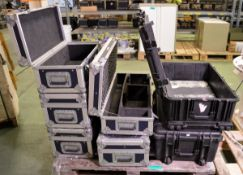 2x Pelican 1650 Transport Cases - H290 x W800 x D520mm, 2x CP Cases Transport Cases - H240