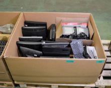 Samsung & Dell monitors, keyboards, HP PC units