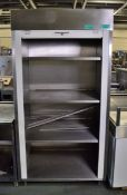 Stainless Steel 4-Shelf Roller Shutter Storage Cabinet (faulty shutter door) - 1000 x 750