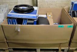 Vehicle parts - brake shield, fuel level sensor, mirror housing, brake pad set - see pictu