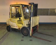Gas Powered Counterbalance forklift - Hyster H2.50XM - 1999 - SWL 250 - New LOLER Certificate