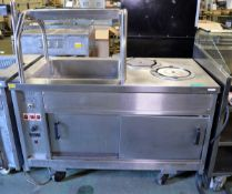 2 Door Servery Unit With 2 Plate Warmer - L1400 x W750 x H1350mm