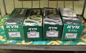 2x KYB K-Flex RX6766 coil springs, KYB K-Flex RX6767 coil spring, KYB K-Flex RX6979 coil s