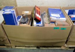 Vehicle parts - brake pad set, headlight, heat exchanger, tail lamp, stabiliser link, corn