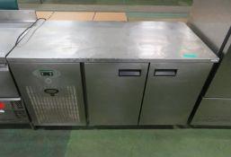 Foster 2 Door Refrigerator - H860 x W1410 x D700mm