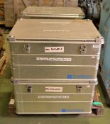 4x Zarges K470 Aluminium Storage Containers - L770 x W580 x H400mm