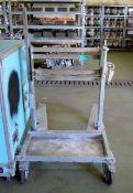 Metal Tilting Mobile Trolley L1200mm x W880mm x H1230mm