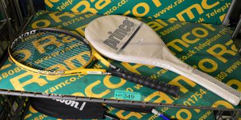 Dunlop Vibe Tennis Racket, Prince TriComp 90 Tennis Racket & Cover