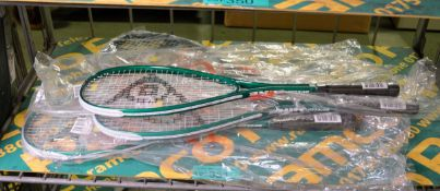 4x Dunlop Hire Squash Rackets