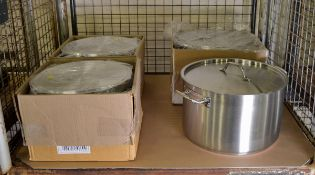 4x Large Cooking Pans 24/31 LTR