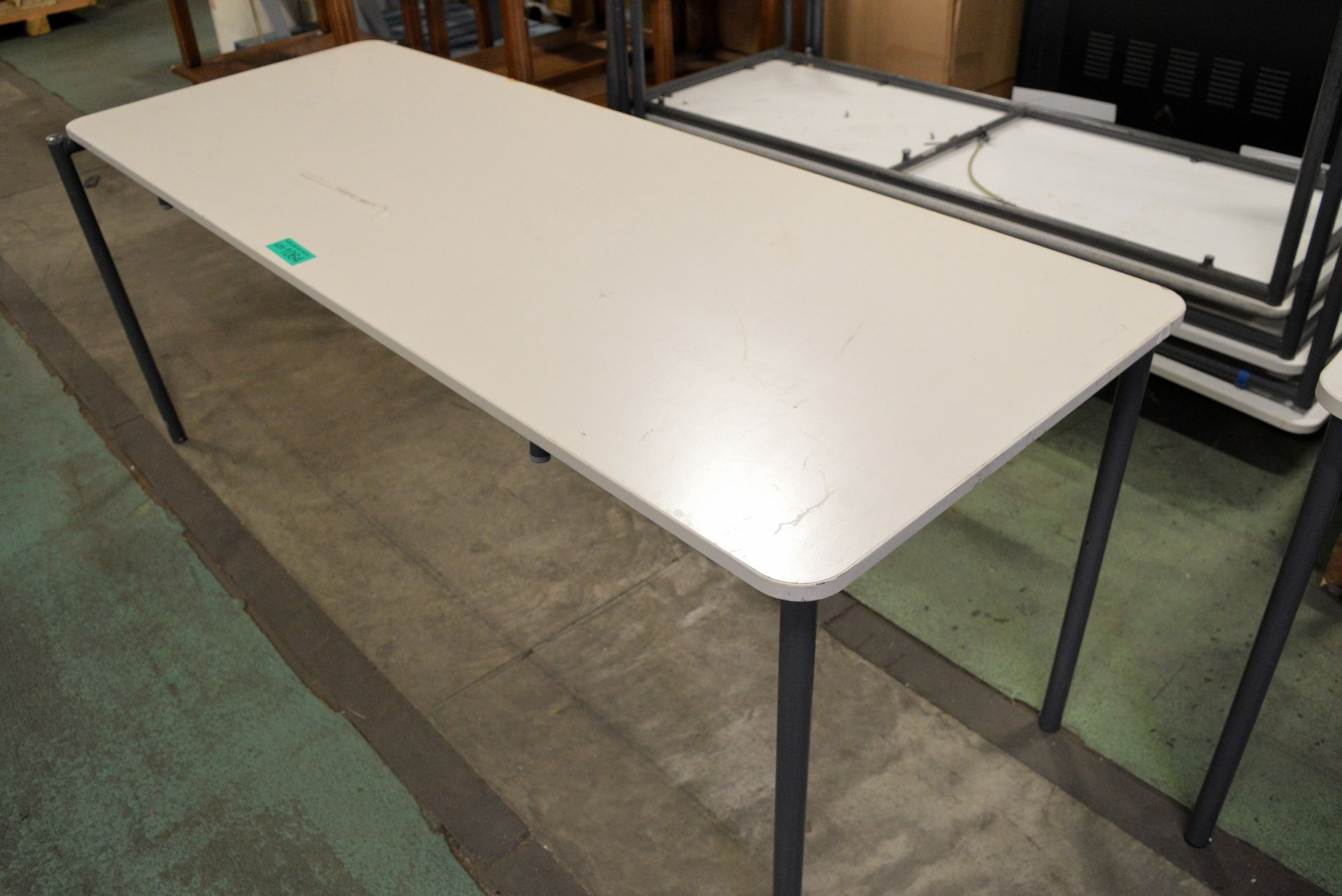 4x Light Grey Formica Top Dining Tables - L1830 x W690 x ...