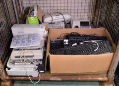 Various Computer Keyboards, Toner Cartridges, OKI Microline 280 Elite 9 Pin Printer, Broth