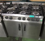 Moorwood Vulcan Mv2RGP90 6 Burner Double Door Gas Oven