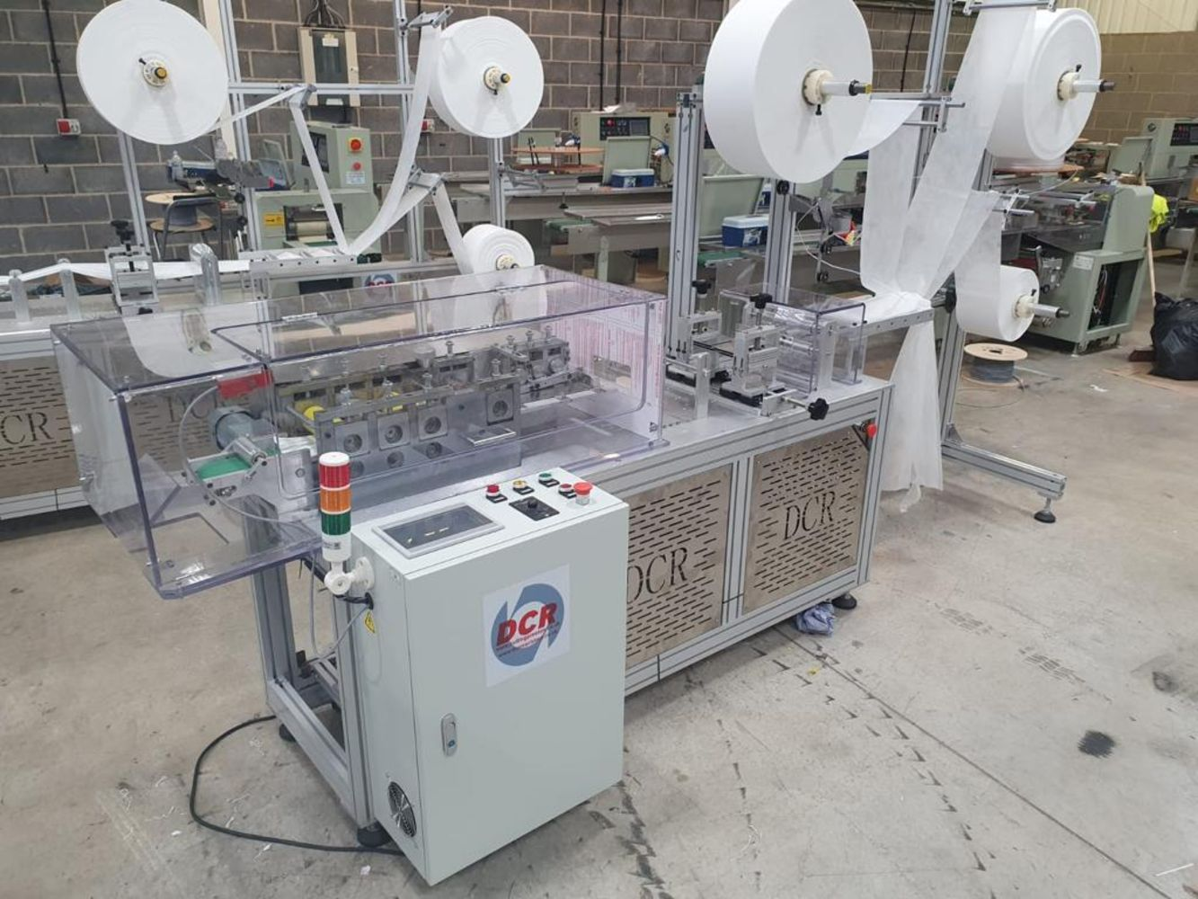 Online Auction Sale of a Full DCR MMM150 PPE Mask Making Production Line