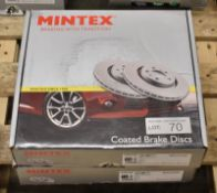 2x Mintex MDC2328C Coated Brake Disc Sets