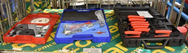 AST AST4520A Twin Cam Petrol Engine Setting Locking Kit, Autogem TPMS Hand Tools Kit & 8 P