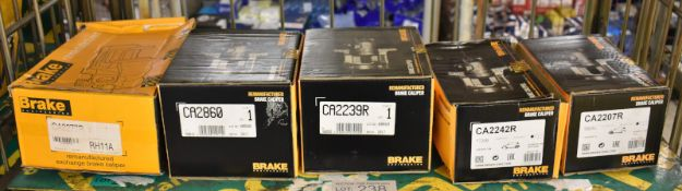 5x Brake engineering brake calipers - see pictures for model numbers