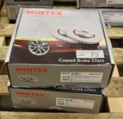 2x Mintex Coated Brake Disc Sets - models - MDC2133C & MDC2538C