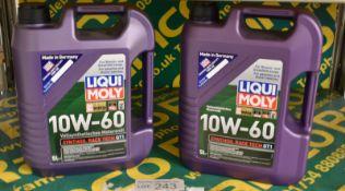 Liqui Moly 10W-60 synthoil Race Tech GT1 engine oil - 2x5LTR bottles